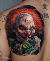 25 Menacing Clown Tattoos Tattoodo