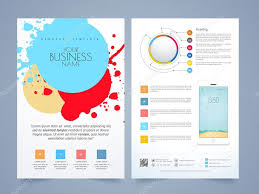 Two Page Brochure Template Two Page Flyer Brochure Or Template Design Stock Vector