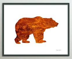 art print poster bear watercolor abstract bear bear zoom black bear head wall decor black and on black and white bear wall art with black bear wall art igorzakus