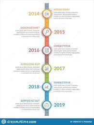 Timeline Photo Template Vertical Timeline Template Stock Vector Illustration Of