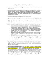 Ap English Iii Research Paper Steps And Guidelines Manualzzcom