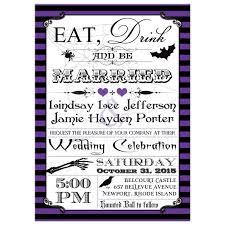 Black And Purple Invitations Halloween Wedding Invitation Purple Black Stripes Eat Drink And Be Married