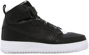 black leather high top sneakers nike lab air force 1 high top sneakers