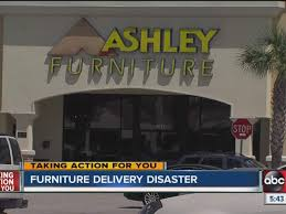 Furniture delivery truck hits power pole customer left to pay