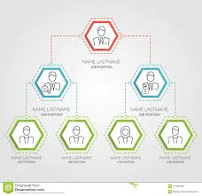 Business Hierarchy Hexagon Chart Infographics Corporate