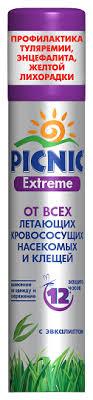 <b>Аэрозоль</b> Picnic Extreme с эвкалиптом от <b>всех видов</b> летающих ...