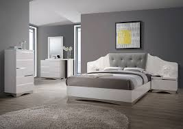 Atlantic Bedding And Furniture Fayetteville Alessandro Glossy Magnificent Glossy White Bedroom Furniture