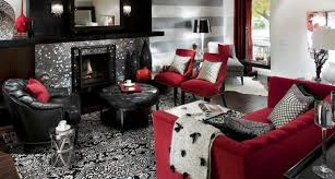 red living room decor inspiration
