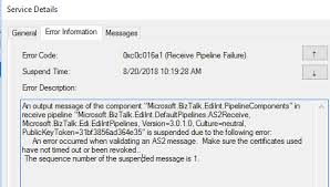 Certificates To Make Biztalk Mdn Received An Error Occurred When Validating An