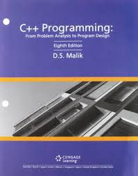 Ds Malik C Programming From Problem Analysis To Program Design C Programming Mindtap Computer Science 1 Term 6 Months