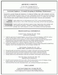 Building Maintenance Resume Templates Build Resume For Free Complete Guide Example 14