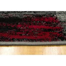 red black grey rug home abstract lava gray area reviews