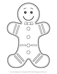 Ginger Bread Man Coloring Page Gingerbread Man Coloring Sheet