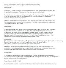 Letter Of Recommendation For Grad School Template Writing A