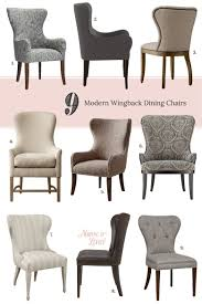 9 modern wingback dining chairs making it lovely