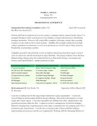 Recruiter Resume Sample Mark Contract Recruiter Resume Mark C