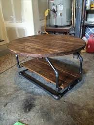 pallet industrial pipe coffee table 101 pallets