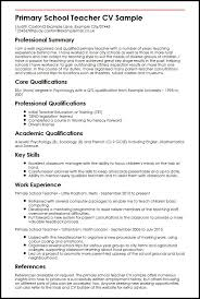 Objective For School Teacher Resume Primary School Teacher CV Sample MyperfectCV 7