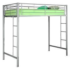 silver bunk bed silver metal loft bed with desk underneath