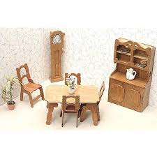 unfinished dollhouse furniture. Dollhouse Furniture Kit Unfinished Wood Dining Room Kits Amazon S