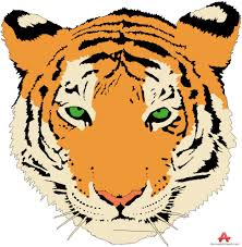 beautiful tiger face clipart free design
