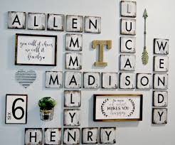 scrabble letters wall decor diy design of family scrabble wall art