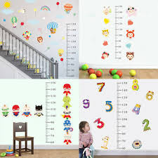 Child Height Chart For Wall Children Height Growth Chart Measure Wall Sticker Kids Room Decor Animal Decal