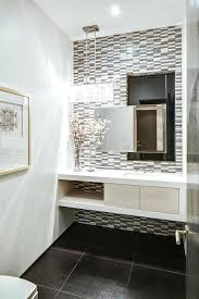 Modern Powder Room Vanity Tile Design Ideas Contemporary With White Unique D