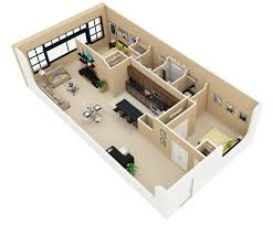 small 2 bedroom house plans. Brilliant Bedroom 9IndustrialLoftStyleTwoBedroom On Small 2 Bedroom House Plans