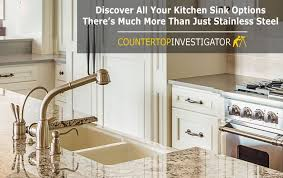 stainless steel sinks are hardly the only option for granite counters