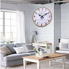 Office In Living Room Retro Vintage Style Round Wood Wall Clock Office Home Living Room