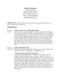 coal miner resume