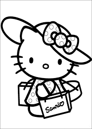 Small Picture Hello Kitty Coloring Pages Free Hello Kitty Coloring Book Pages