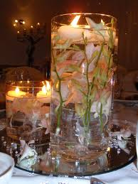 Simple Candle Decoration Candle Centerpieces For Wedding Whole Submerged Flowers In A