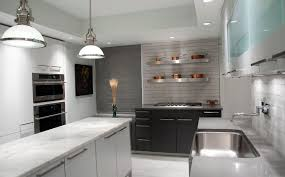 Image Hanging Copperpotsonstainlesssteelshelves Homedit How To Mix And Match Stainless Steel Kitchen Shelves With Your Style