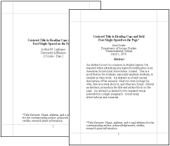 Formatting A Research Paper Apa Title Page Format For Research Papers