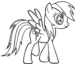 Rainbow Dash Stand Coloring Pages