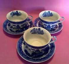 Decorating With Teacups And Saucers 100 Blue Willow Tea Cups And Saucers Inside Decoration Maruta 39