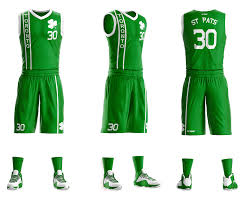 Basketball Jersey Design White Green Custom Sublimated Basketball Uniforms Gitch Sportswear