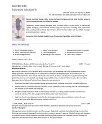 Fashion Design Resume Template Amazing Fashion Designer Free Resume Samples Blue Sky Resumes
