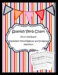 Imperfect Tense Verb Chart Regular And Irregular Verbs