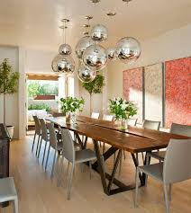 mediterranean dining room furniture. Modern Mediterranean Dining Room With Globe Metallic Pendants [Design: Architectural Alliance] Furniture I