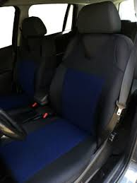 2 blue front car seat covers with dots for vw new beetle