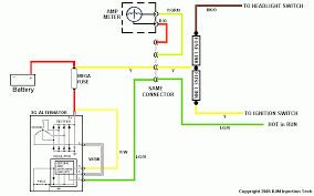 ford ranger l amp alternator swap more detailed schematic of new charging system showing how to integrate the old wiring