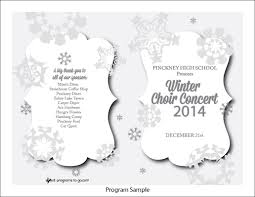 sample concert program snowflakes light h3 bw