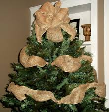 burlap diy tree garland with topper bow beautiful for living room interior party decoration easy