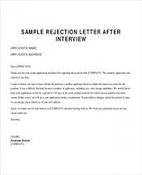 reject letter template sample applicant rejection letter 6 documents in pdf word