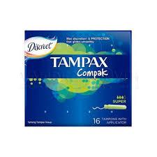<b>Тампоны Tampax Compak</b> с аппликатором super 16шт
