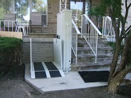 Exterior Front Porch Lift - Exterior wheelchair lifts