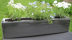 handmade modern steel planter by bader art metal  fabrication
